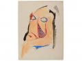 Pablo Picasso, Study for Les Demoiselles d'Avignon: Head of the Squatting Demoiselle