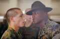 A recruit with a drill instructor.