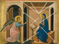 Perspective analysis of Duccio, Annunciation of the Death of the Virgin, from the Maestà ...