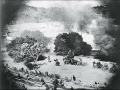 Battle scene from The Birth of a Nation, directed by D. W. Griffith.