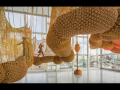 Ernesto Neto, TorusMacroCopula, one of four sculptures in Madness is Part of Life.