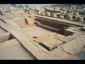Large water tank, possibly a public or ritual bathing area, from Mohenjo-daro, Indus Valley ...