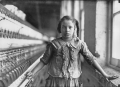 This girl ran four spinning machines in a cotton mill in Whitnel, North Carolina. Only 4 feet, 3 inc